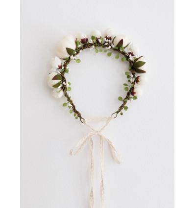 ACCESSOIRES Couronne de fleurs - English Garden - Naomi