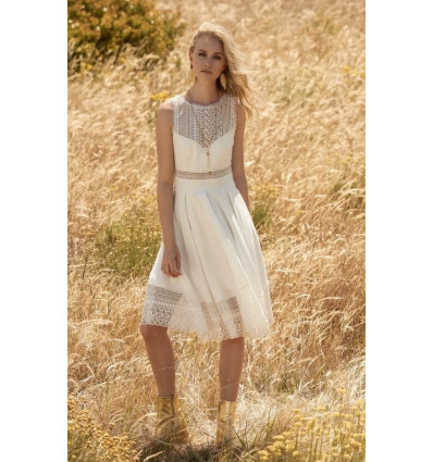 Robes de mariée courtes Rembo Styling - White Stripe