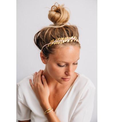 Maison Guillemette - Headband feuilles gold