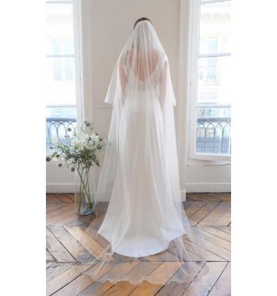 Accueil Voile de mariée - festonné - avec rabat